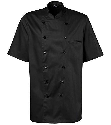 Schwarze Kochjacke kurzarm Größe XL, Mod. 201 von Exner
