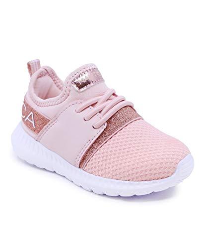 Nautica Kids Toddler Sneaker Athletic Slip-On Bungee Running Shoes Boy-Girl Toddler Little Kid-Kappil Toddler-Rose Gold-8