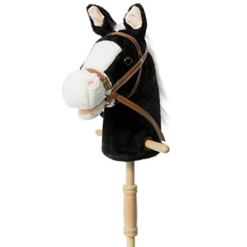 HollyHOME Outdoor Stick Horse with Wood...