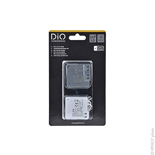 Dio Connected Home 54738 Kit conmutación (micromodules réc.+ ém, color blanco/gris