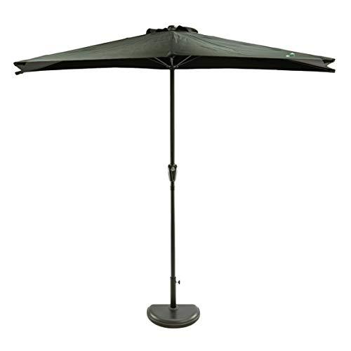 MaxxGarden - Ombrellone da giardino a parete, diametro 270 cm, colore nero