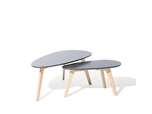 table basse gris clair