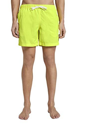 TOM TAILOR Herren Beachwear/Bademode Badeshorts mit Eingrifftaschen Bright neon Yellow,M,21550,3000