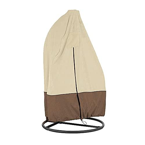 Queta Funda protectora para sillón colgante, 190 x 115 cm, a prueba de polvo, para sillón colgante o terraza, con cremallera