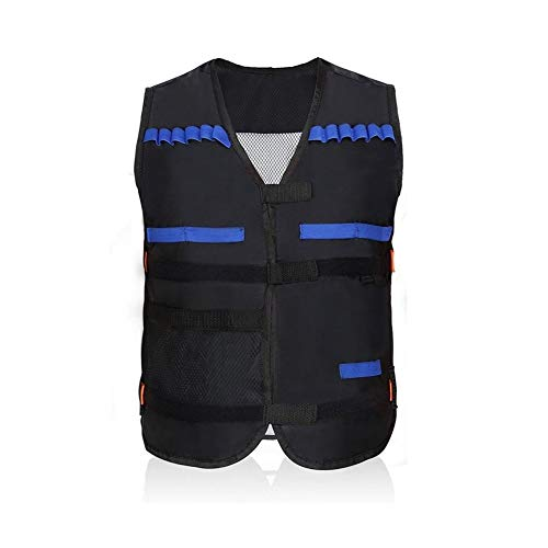 Yosoo Kids Elite Tactical Vest for Eva Nerf Gun N-Strike Series, Black