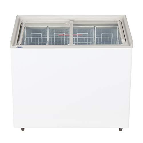 Haier HCF-310FGHC 296 Ltr flat Glass Top Freezer with QDI basket, White