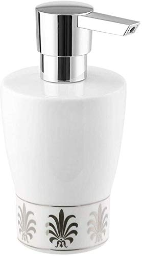 BUYT Bathroom Soap Dispenser Set Soap Bottle White Ceramic Lotion Bottle Home Decor Fashion Creative Soap Dispenser (9.5 Oz) (Color : B)