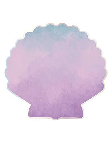 Procos 90804 Servietten Muschel, 16 Stück, rosa, blau