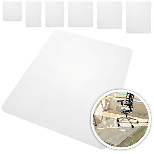 Rapid Teck® Bodenschutzmatten 90cm x 90cm für Hartböden in 6 Größen Bürostuhlunterlage Bodenschutzmatte Semi transparent