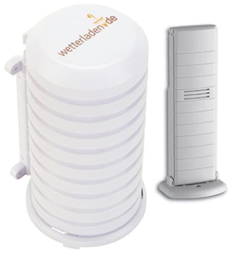 TFA Dostmann Temperatursender, 30.3147.IT, kabellose Übertragung, zur Temperaturkontrolle (weiss mit JM Schutzgehäuse)