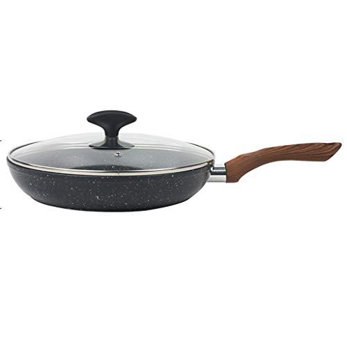 JCSJK Koekenpan, antiaanbakplaat, aluminiumlegering, aardgas gaskachels algemeen doel gemakkelijk te reinigen minder olie rook energiebesparende gebakken biefstuk