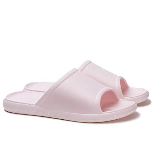 posee Zapatillas de casa de EVA impermeables antideslizantes, antideslizantes para exteriores e interiores, zapatillas de punta abierta para hombres y mujeres, color Rosa, talla 38/39 EU