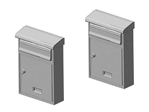 modellbahn-exklusiv Briefkasten Hausbriefkasten, modern mit Dach, 2 Stück, Spur 0, 1:45