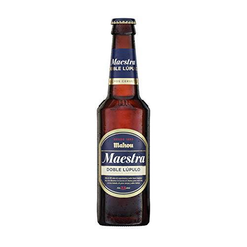 Mahou Maestra Doble Lúpulo Cerveza Lager Tostada, 7.5% Volumen de Alcohol - Botellín de 33 cl