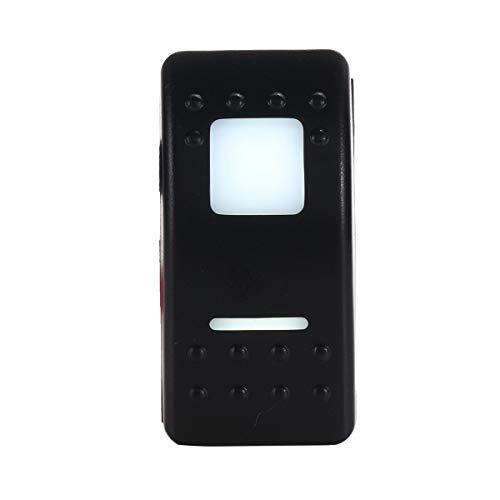 XpFac Store Interruptor de botón Universal 12V 7 Pin L & EDRIGHT para DP & Dton-Oft-On Switch de rockero autoblocante (Color : White)