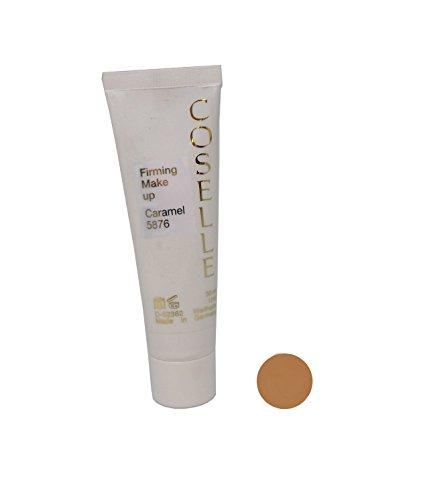 Coselle Firming Make-up, feuchtigkeitsspendendes und geschmeidig leichtes Make-up mit lichtreflektierenden Mikropigmenten und Q10. Höchste Qualität, ohne Tierversuche, Made in Germay! (Caramel)
