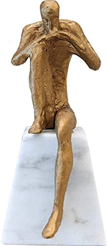 Chilechuan Decoraciones Creativas, Estatua del Pensador, Arte Escultura Decoración Arte Abstracto Modelo Creativo Casa Escritorio Máquina Mármol Adornos