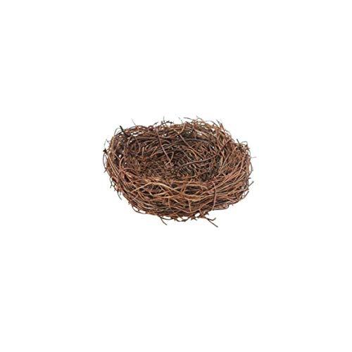 Preisvergleich Produktbild Romote Handgemachte Rebe Zweig Vogel-Nest-Haus Natur Craft Für Creative-Ring-Kissen Photo Szene Anordnen Werkzeug-Garten-Dekoration Speicherzubehör -10cm Durchmesser