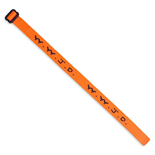 Single W.W.J.D. Bracelet - 22 Individual Colors To Choose From - Mix and Match (Orange)