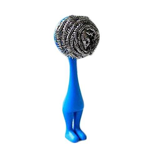 Da. WA 1 pcs Creative de cuisine Brosse de nettoyage domestique à laver Nettoyage Fournitures Taille unique bleu