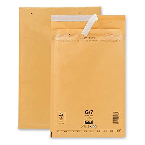 OfficeKing Luftpolstertaschen reißfest 50 Stk Braun G/7 | 250 x 350mm DIN A4+ C4