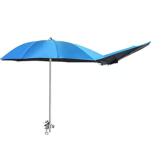 UPF 50+ Chair Umbrella with Clamp Adjustable,Beach Umbrella,Patio Umbrellas,Use for Outdoor Patio,Golf Cart,Stroller,Bleacher,61 x 43 inches