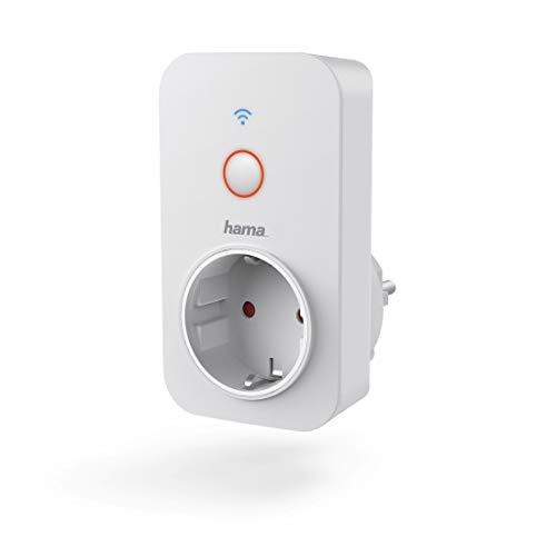 Hama WLAN-stopcontact (zonder hub, 3680 W, op afstand bestuurd via Amazon Alexa/Google Home/App/IFTTT, kinderbeveiliging, 2,4 GHz, smart stopcontact, compatibel met Echo/Echo Spot/Echo Plus/Echo Show)