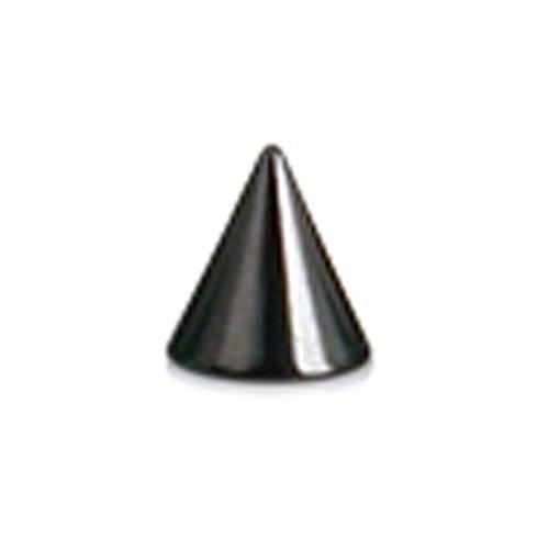 ラプラス laplace ボディピアス body-piercing [16G] ブラック サージカルステンレス コーン型 ネジボール [ キャッチ ] 【 ボディーピアス 】 16G (3mmx3mm)