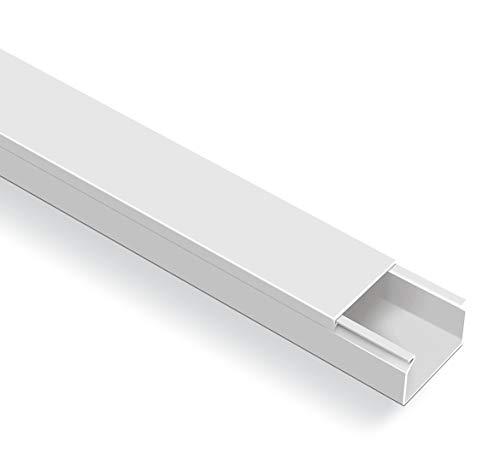 20m Kabelkanal Selbstklebend (60x40mm BxH, Weiß)