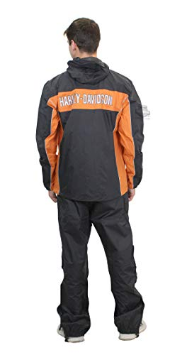 Harley-Davidson Mens Generations Reflective Waterproof Black Rain Suit (X-Large) 98285-14VM