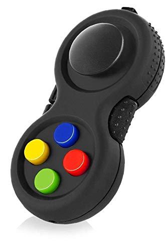 Aisoway Klassische Game-Controller gummierte Gamepad mit 8-Fidget Funktionen und Lanyard Joypad Gamestick Spielzeug