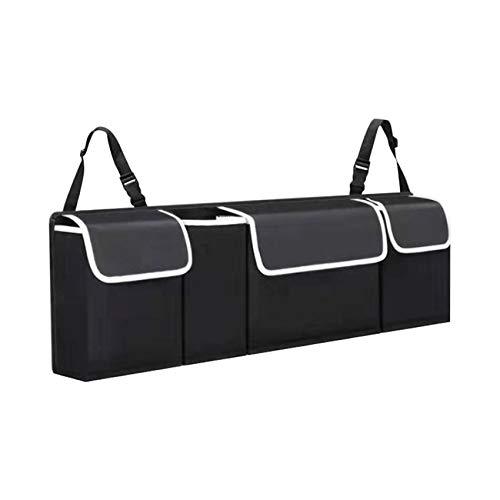 Organizador de bolsas para maletero de coche, para varias cosas, fuerte estabilidad, 3 correas de hebilla ajustables para ajustar, PVC impermeable, plegable, mantiene tu coche ordenado y limpio.