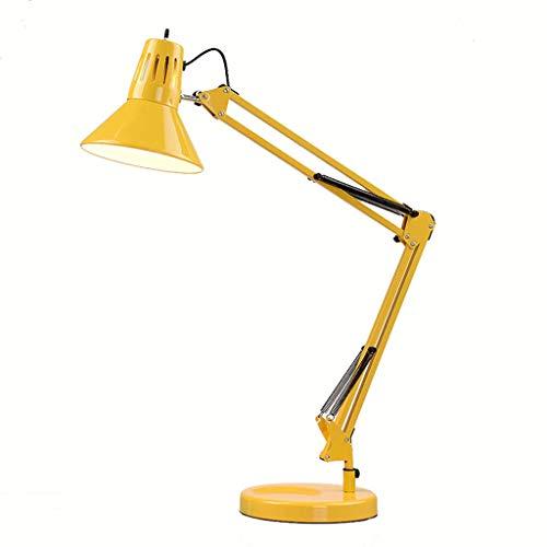 Lámparas de Escritorio Lámparas de Mesa y Mesilla Modern Fashion Long Rocker Folding Classic Lámpara de mesa de ahorro de energía E27, Clip de LED Lámpara de mesa Lámpara de lectura Dormitorio de cabe