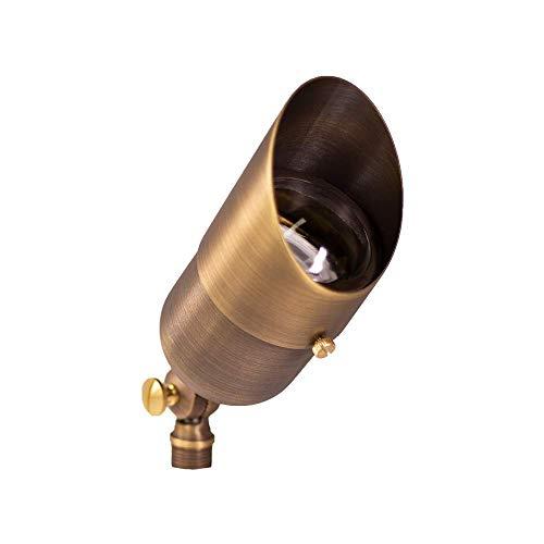 Lumen Logic 12V Brass Outdoor Spotlight with Stake (Bronze)