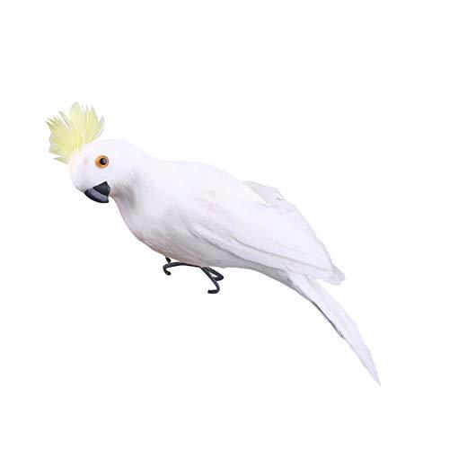 display08 - Figura Decorativa Hecha a Mano, diseño de Loro, pájaro, césped, jardín