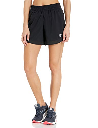 New Balance Women's Accelerate 5 Inch Running Short, Black, Medium