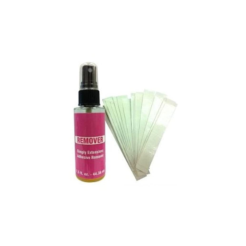 Hair Extensions Re-Tape Kit (15 strips No Shine Tape & Bottle of C-22 Citrus Solvent 1.5 ounces Spray Bottle All Natural Wetting Agents Removes Tape Extensions wigs hair systems, gentle on skin