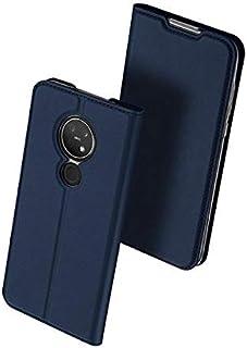 حافظة لهاتف نوكيا 7.2/6.2 حافظة هاتف محمول بغطاء قلاب - أزرق