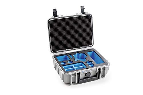 """B&W outdoor.cases Typ 1000 mit DJI Osmo Action Inlay \""""Koffer für DJI Osmo Action, 4 ND Filter, 8 Akkus, 3fach-Ladeschale\"""" - Das Original"""