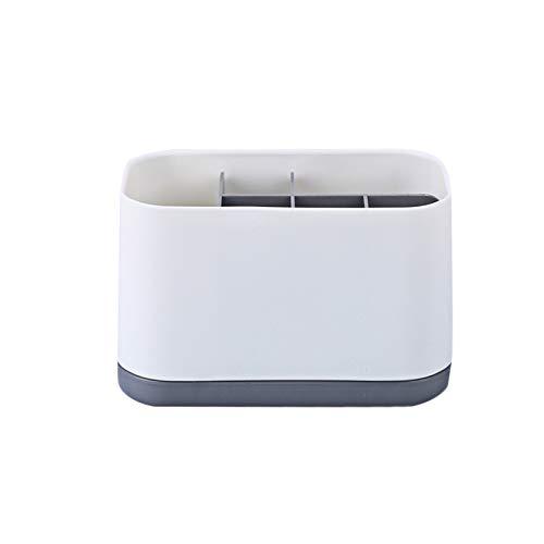 Portaspazzolino da bagno, contenitore per tenere il bagno in ordine (grigio /18 x 12 x 9,8 cm)