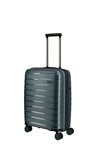 travelite 4-Rad Handgepäck Koffer mit TSA Schloss erfüllt IATA-Bordgepäckmaß, Gepäck Serie AIR BASE: Funktionaler Hartschalen Trolley im coolen Look, 075347-25, 55 cm, 37 Liter, eisblau