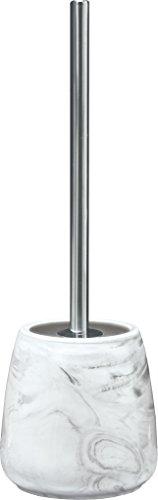 Kleine Wolke 5854901856 Porte Brosse à Toilette Marble Anthracite, Pierre, 15 x 10 x 10 cm