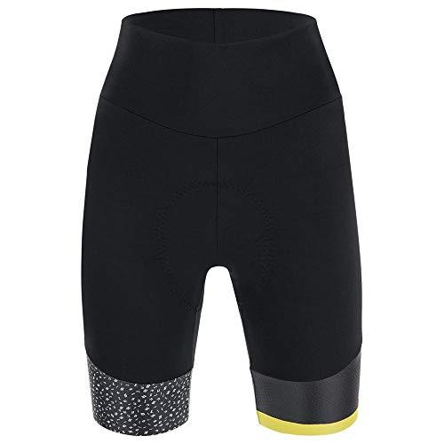 Santini Damen Giada Hip Short Nebi, schwarz/weiß, XL