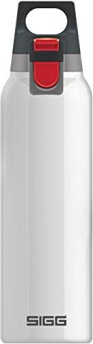 SIGG Hot und Cold ONE White Thermo Trinkflasche (0.5 L), schadstofffreie und isolierte Trinkflasche, einhändig bedienbare Thermo-Flasche aus Edelstahl