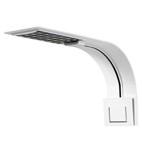 UEETEK Luz del Acuario del LED, luz de la lámpara con Clip súper Delgada con Enchufe de la UE para el Tanque de Acuario...