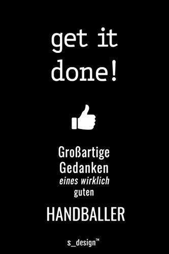 Notizbuch für Handballer / Handball-Spieler: Originelle Geschenk-Idee [120 Seiten kariertes blanko Papier]
