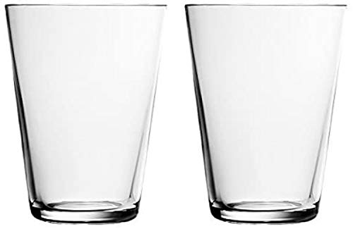 Iittala 1008589 Kartio 2-er Set Gläser klar, 40 cl, Glas