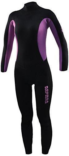 Kounga Dw 3.2 Traje para Surf y Buceo, Mujer, Negro/Violeta, XL