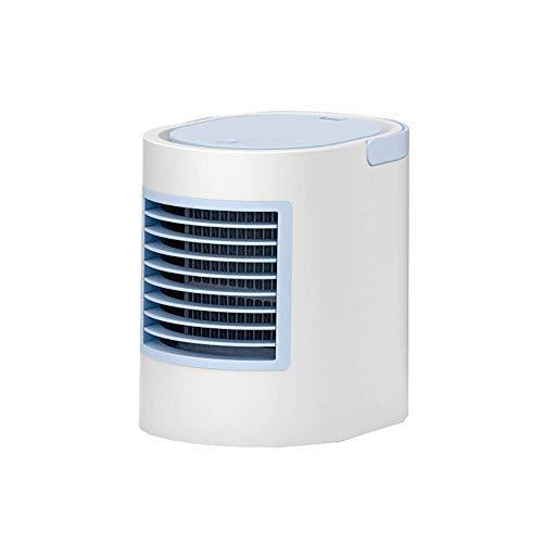 Qiutianchen Aire Acondicionado Purificación de Aire Humidificación Refrigeración Equipo de sobremesa portátil Aire Acondicionado portátil (Color : Blue)