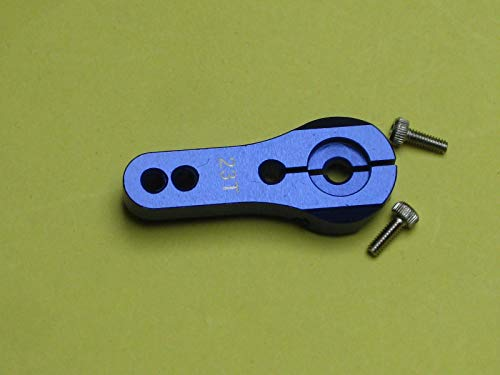 SODIAL SODIAL(R)25T M3 Metal RC Servo Bras Cor Pour Futaba Savox Xcore HL HSP HD Alimentation Bleu